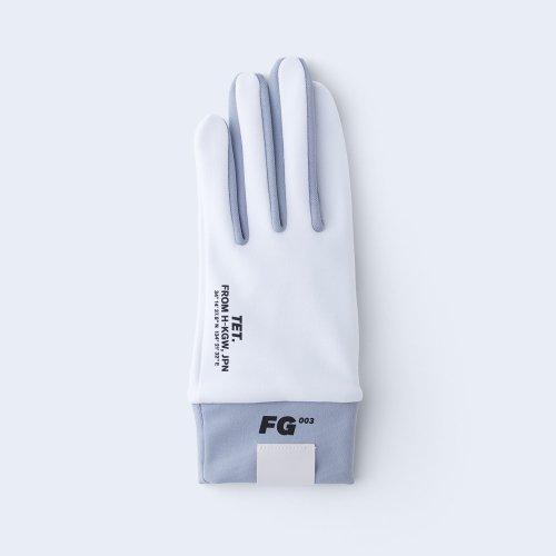 runners gloves WOMEN white