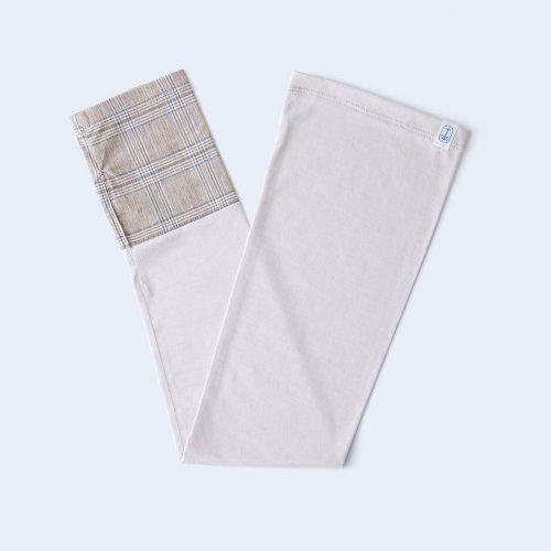 sunny cloth check cuff brown & gray beige