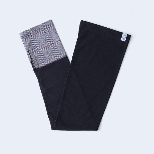 sunny cloth check cuff gray & black