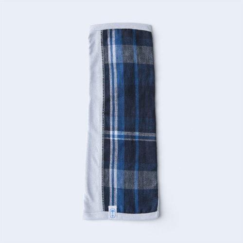 sunny cloth big check 1/2 gray & navy