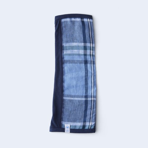 sunny cloth big check 1/2 navy & blue