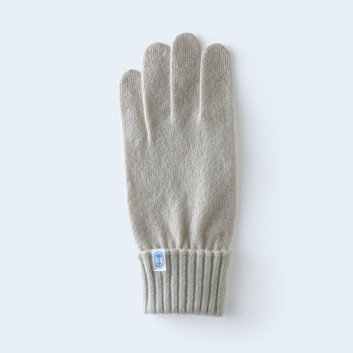 tenjiku color rib MEN gray beige & light blue