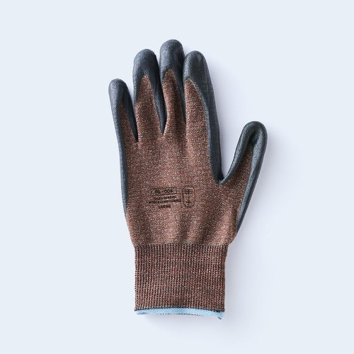 workers gloves LARGE brown