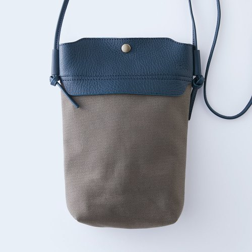 mini shoulder navy & gray