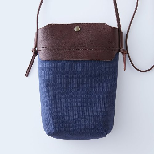 mini shoulder brown & navy