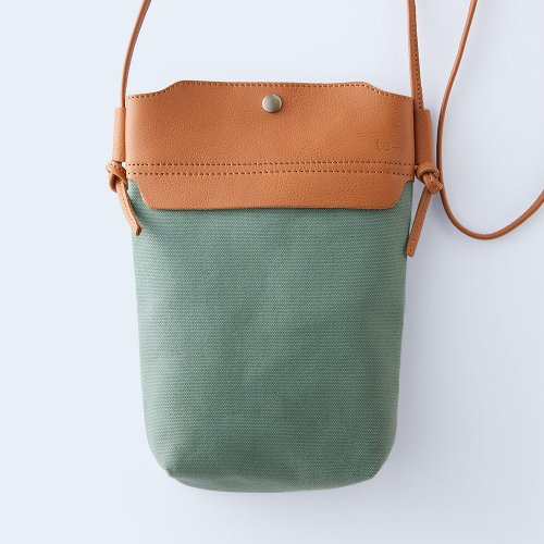 mini shoulder camel & green