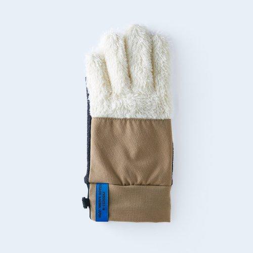 【予約】mountain fleece WOMEN white & beige