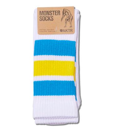 MONSTER SOCKS WHITExBLUE