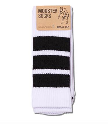 MONSTER SOCKS WHITExBLACK
