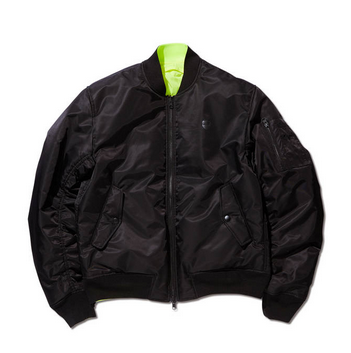 <img class='new_mark_img1' src='//img.shop-pro.jp/img/new/icons20.gif' style='border:none;display:inline;margin:0px;padding:0px;width:auto;' />REVERSIBLE BOMBER JACKET BLACK