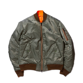 REVERSIBLE BOMBER JACKET OLIVE