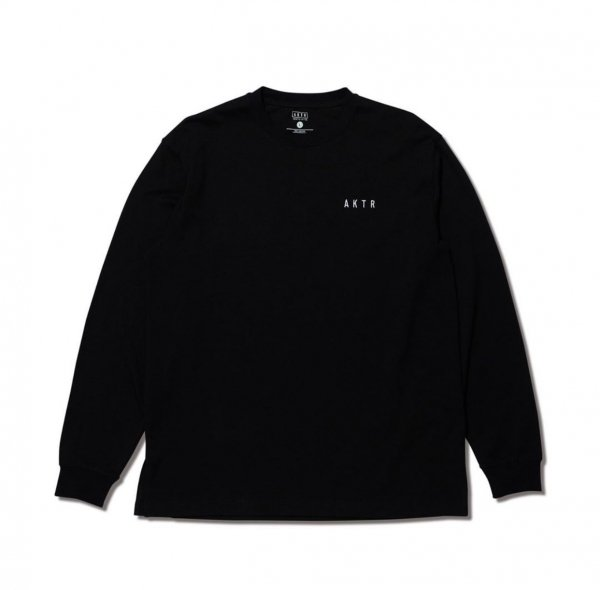 LOOSE FIT LOGO L/S TEE BLACK