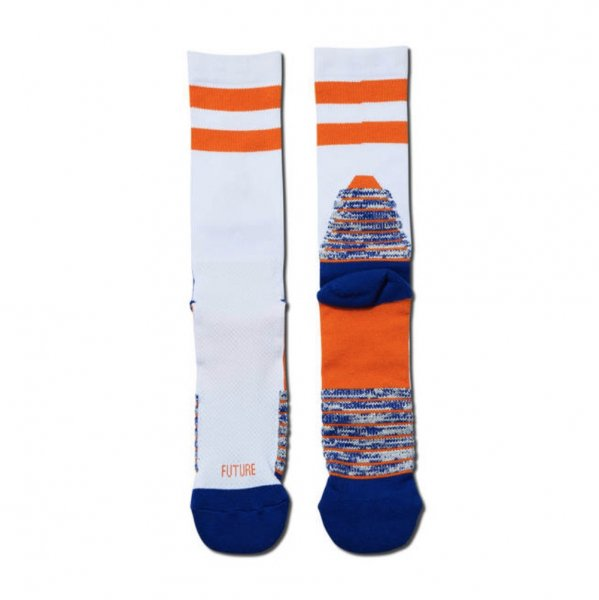 NEO FUTURE SOCKS WHITExORANGE