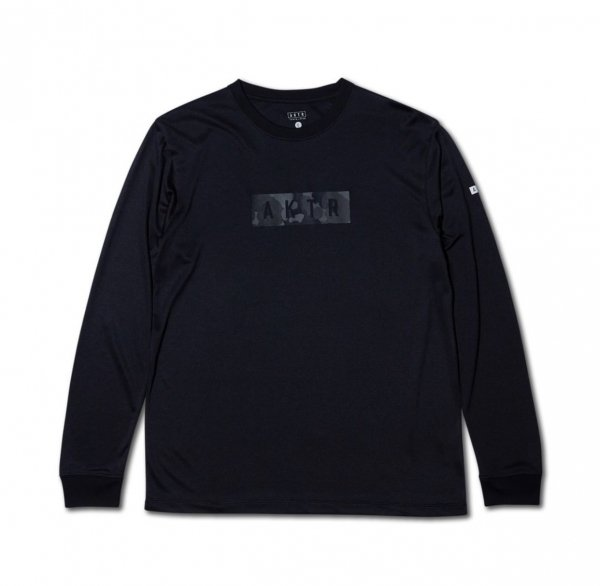 <img class='new_mark_img1' src='https://img.shop-pro.jp/img/new/icons15.gif' style='border:none;display:inline;margin:0px;padding:0px;width:auto;' />B.BALL TEXTURE CAMO LOGO L/S TEE BLACK