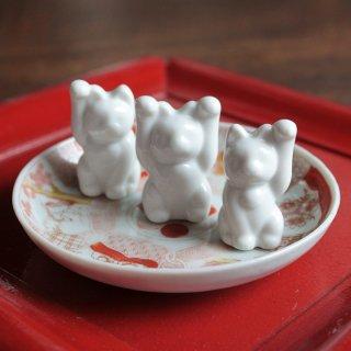 白磁 招き猫set