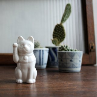 白磁 招き猫 ミギテ