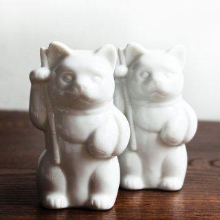 白磁 恵比寿猫