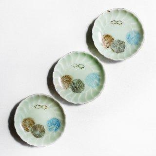 青磁豆皿 丸紋