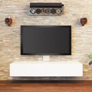 AVボード テレビ台 白 シンプル 搬入/組立/設置無料(壁への取付サービス外)[幅160] 細い 薄型 スリム CATTINO(カッティーノ)ホワイト