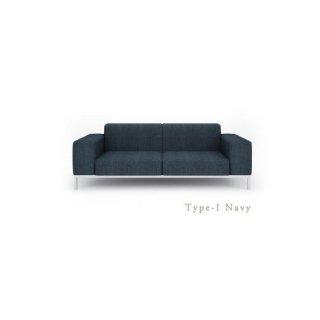 3人掛け I型ソファ 低めのアームレスト[幅200] SARINA�(サリーナ�)TypeI ネイビー