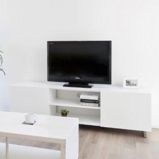 【2019年9月入荷予定】AVボード テレビ台 収納 白 ホワイト 塗装 シンプル 幅約160cm 送料無料 LUCE(ルーチェ)