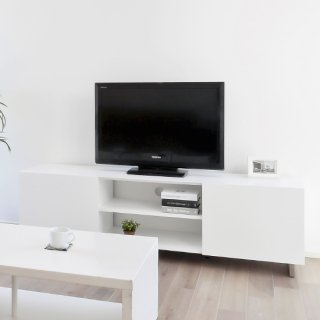 AVボード テレビ台 収納 白 ホワイト 塗装 シンプル 幅約160cm 送料無料 LUCE(ルーチェ)