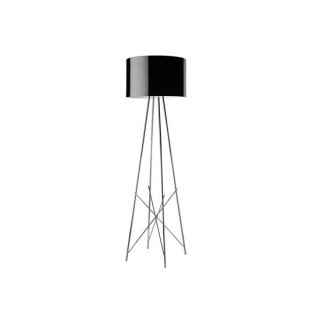 送料無料 フロアライト ランプ 照明 黒 ロドルフォ・ドルドーニ イタリア 100W E26 FLOS(フロス) Ray F1(レイF1)(ブラック)
