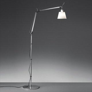 送料無料 フロアライト ランプ 照明 パーチメント紙 イタリア 60W E26 Artemide(アルテミデ) TOLOMEO BASCULANTE TERRA(トロメオ バスキュランテ テラ)