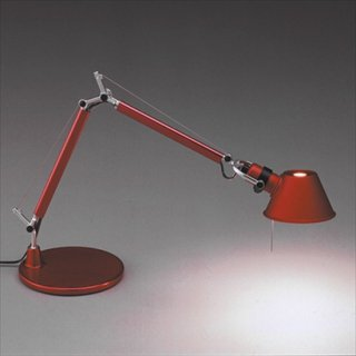 ※イタリア生産終了の為メーカー在庫限り※スタンドライト デスクライト 照明 赤 ミケーレ・デ・ルッキ 40W Artemide(アルテミデ) TOLOMEO MICRO(トロメオ ミクロ)レッド