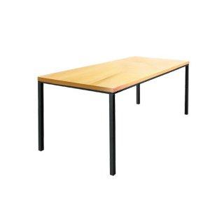 オーク材ダイニングテーブル クリア ホワイト 幅180cm 送料無料 GEN�(ゲン トレ)W1800