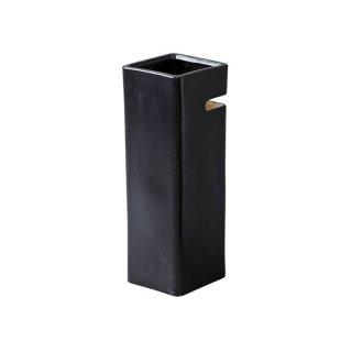 ディンブル 傘立て 陶器 ブラック 黒 幅15cm 奥行15cm 高さ41cm