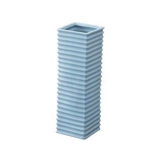 フロット 傘立て 陶器 波 ブルー 水色 幅15cm 奥行15cm 高さ45cm