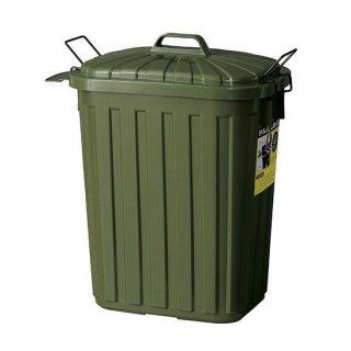 スーパーカン 60L バケツ グリーン 緑 カーキ スモーキーカラー 幅36cm 奥行55.4cm 高さ62.2cm