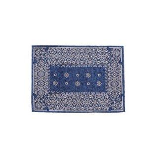 マット インテリア 雑貨 ブルー 青 縦50cm 横70cm