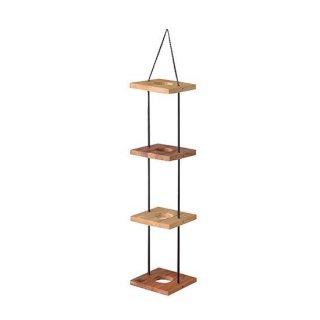 ハンギングプランター4段 プランター ガーデン インテリア 雑貨 茶色 ブラウン 高さ84cm 幅20cm 間隔25cm