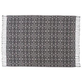 ブランケット&ベッドカバー ブランケット ベッドカバー インテリア 雑貨 黒 ブラック グレー 縦130cm 横180cm