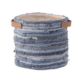 ファブリックプランター プランター ガーデン インテリア 雑貨 青 ブルー 縦25cm 幅25cm
