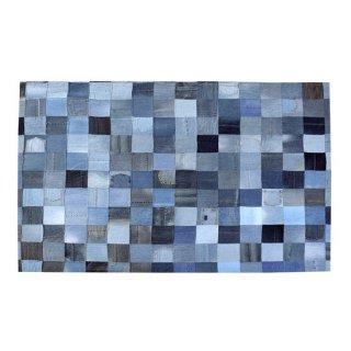 ラグ マット インテリア 雑貨 白 青 ホワイト ブルー ネイビー チェック モザイク 縦170cm 横230cm