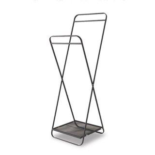 フォールディングハンガー インテリア   ブラック 幅51cm 高さ153.5cm    奥行き51cm