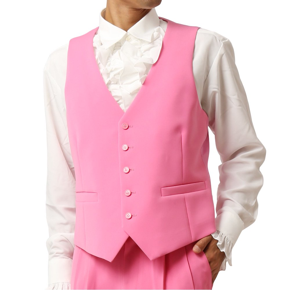 カラーベスト ジレ:ピンク