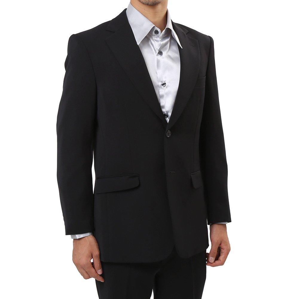 メンズ 2ボタン テーラード ジャケット カラー:ブラック