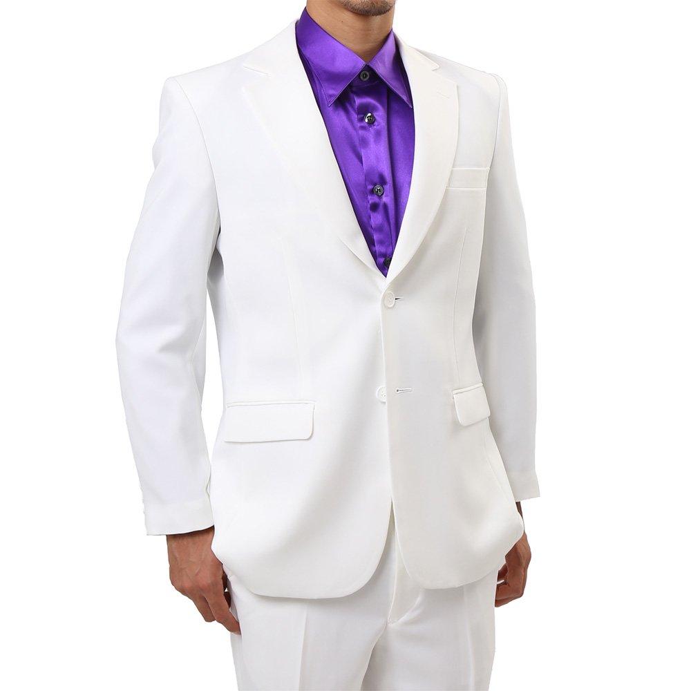メンズ 2ボタン テーラード ジャケット カラー:ホワイト