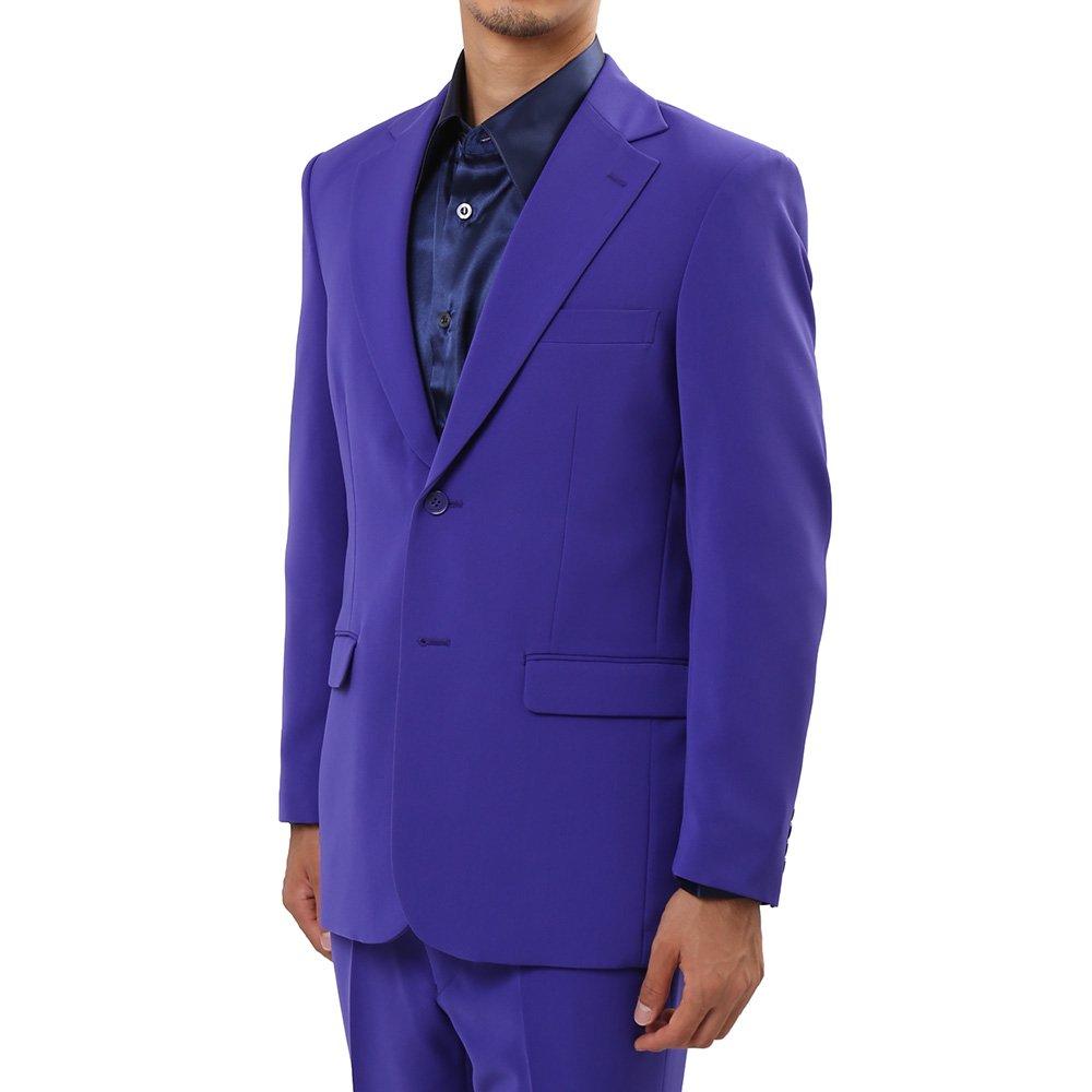 メンズ 2ボタン テーラード ジャケット カラー:パープル