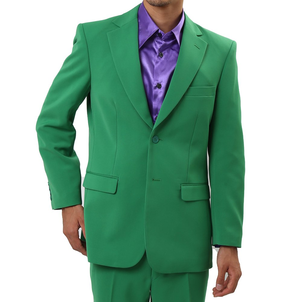 メンズ 2ボタン テーラード ジャケット カラー:グリーン