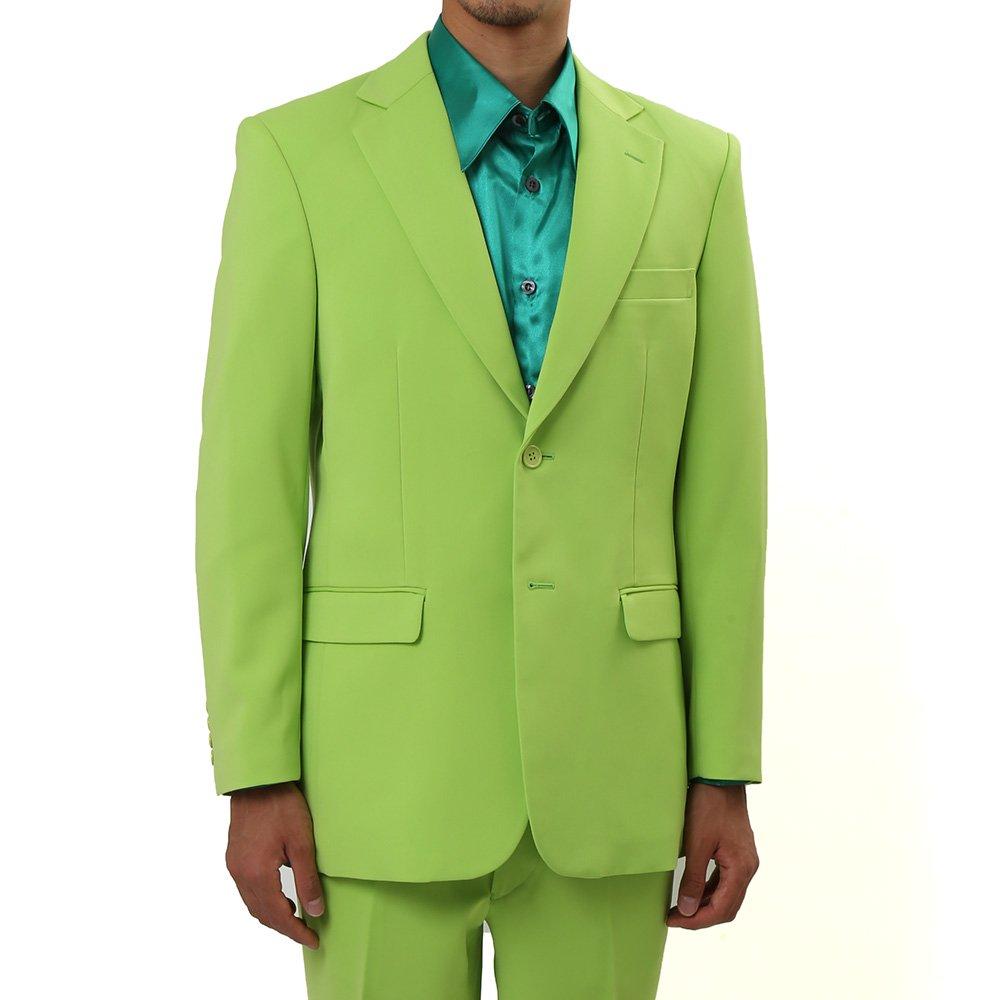 メンズ 2ボタン テーラード ジャケット カラー:イエローグリーン