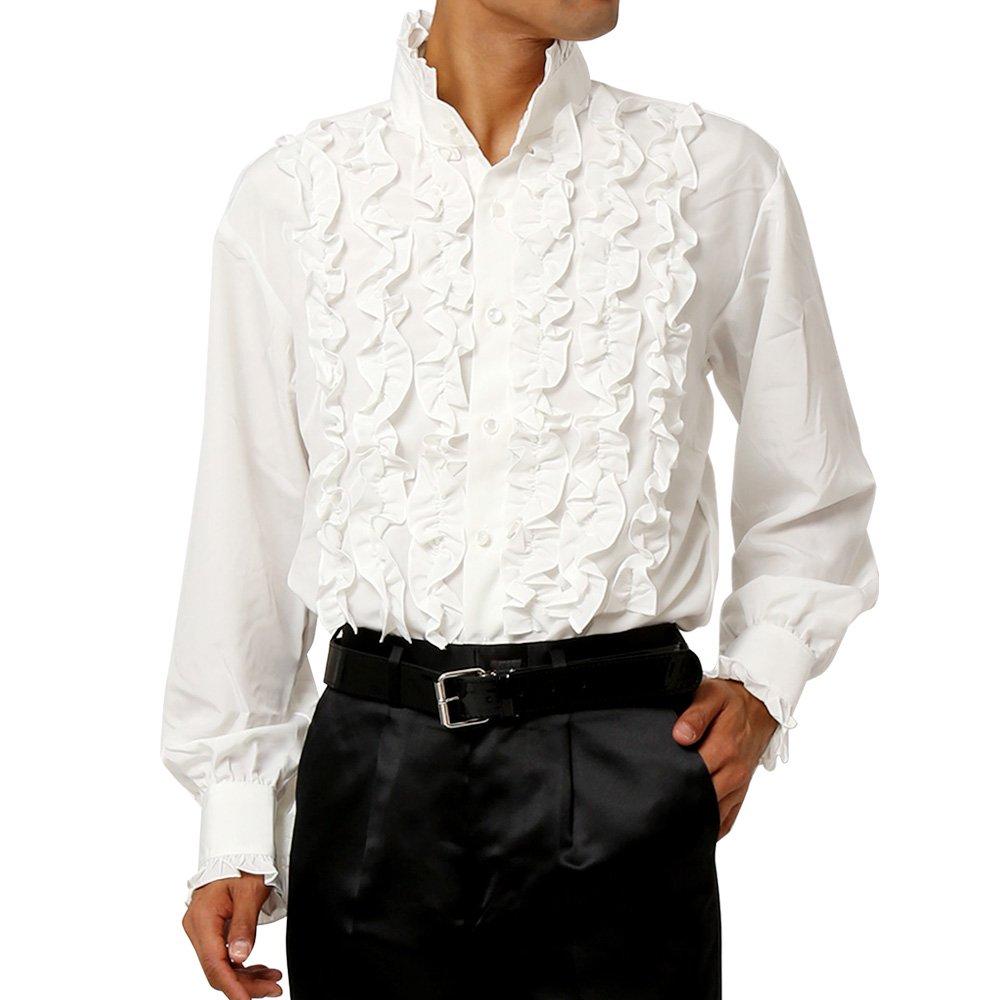 スタンドカラーフリルシャツ メンズ 衣装|カラー:ホワイト