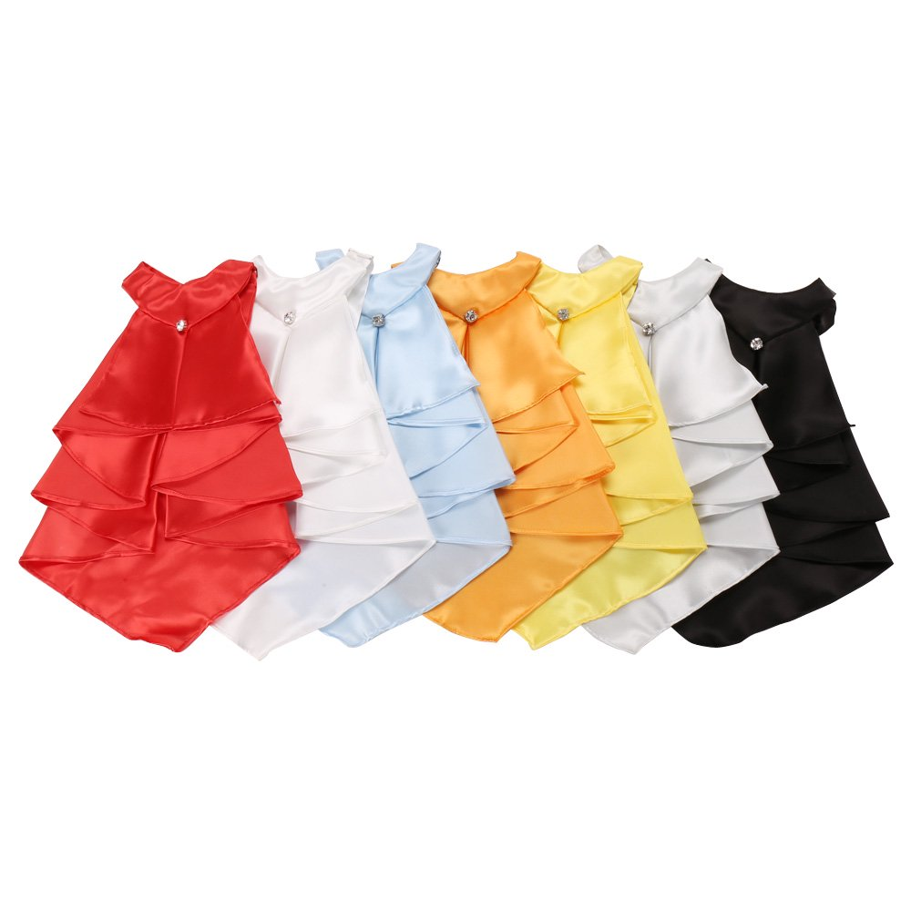 フリルタイ 男女兼用 衣装|カラー:レッド / ホワイト / サックス / オレンジ / イエロー / シルバー / ブラック