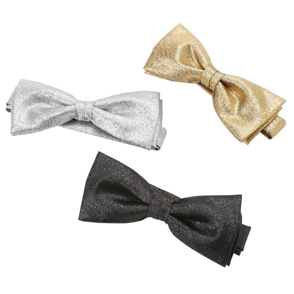 蝶タイ(ラメ) 男女兼用 衣装 カラー:シルバー / ゴールド / ブラック