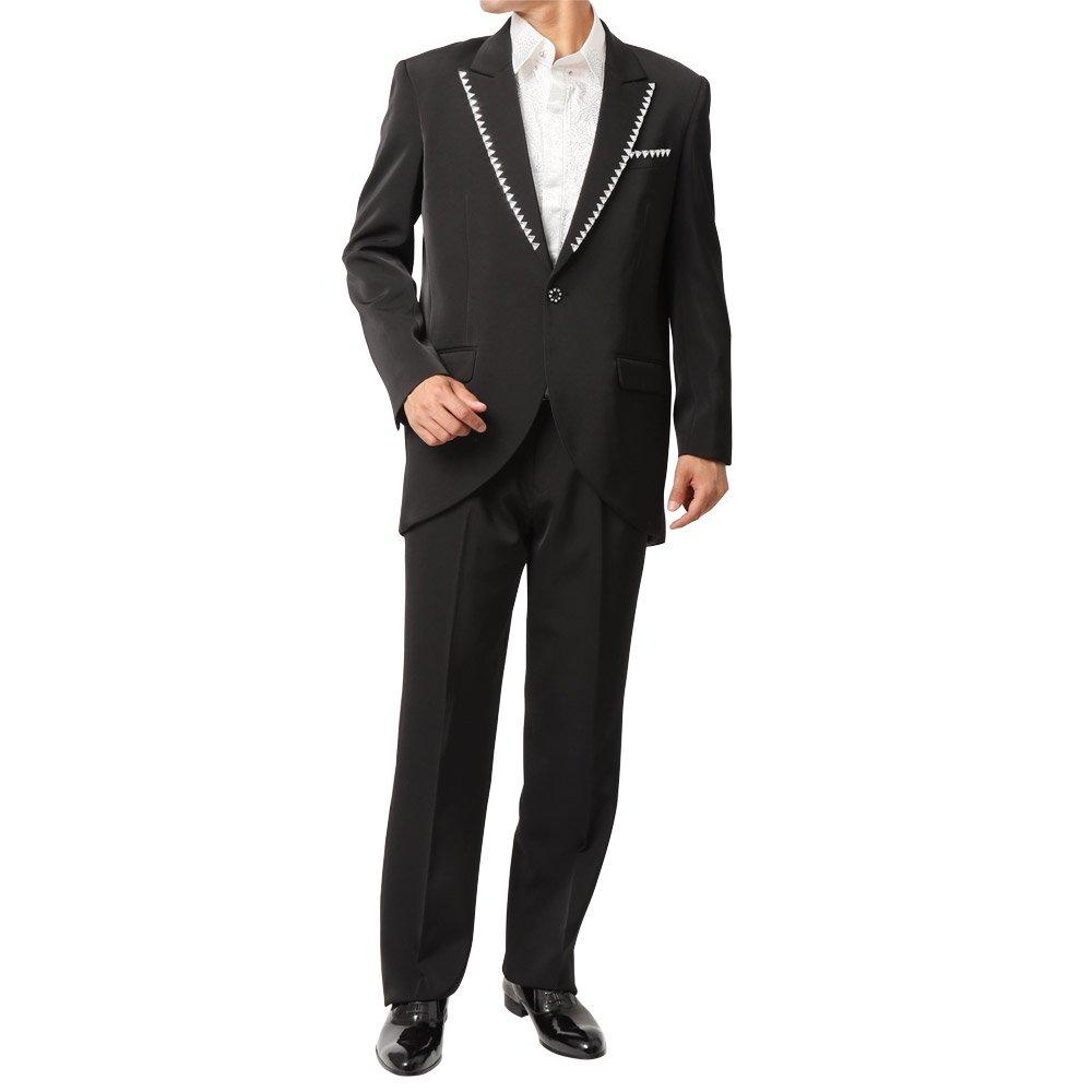 ピークドラペルテーラード デザインスーツ 男女兼用 衣装|カラー:ブラック