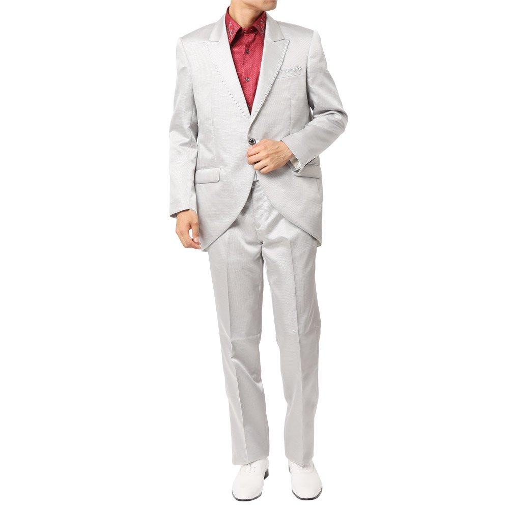 ピークドラペルテーラード デザインスーツ 男女兼用 衣装|カラー:シルバー